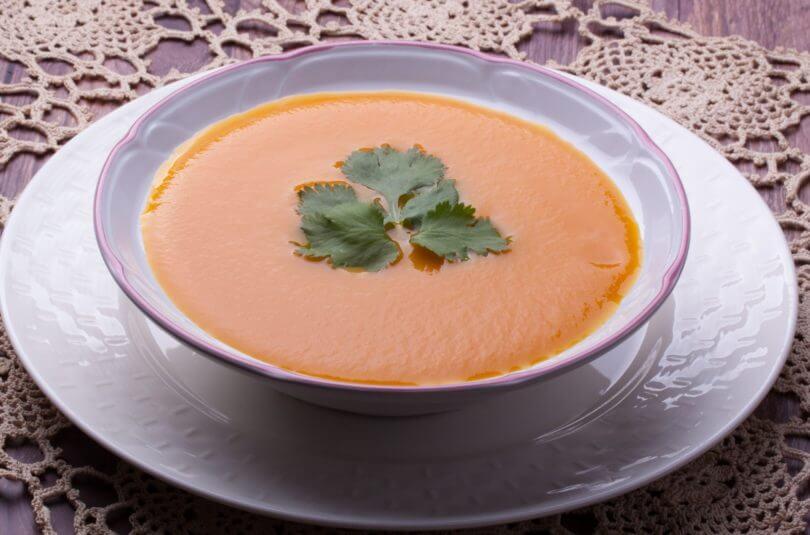 Purée de carottes à la coriandre