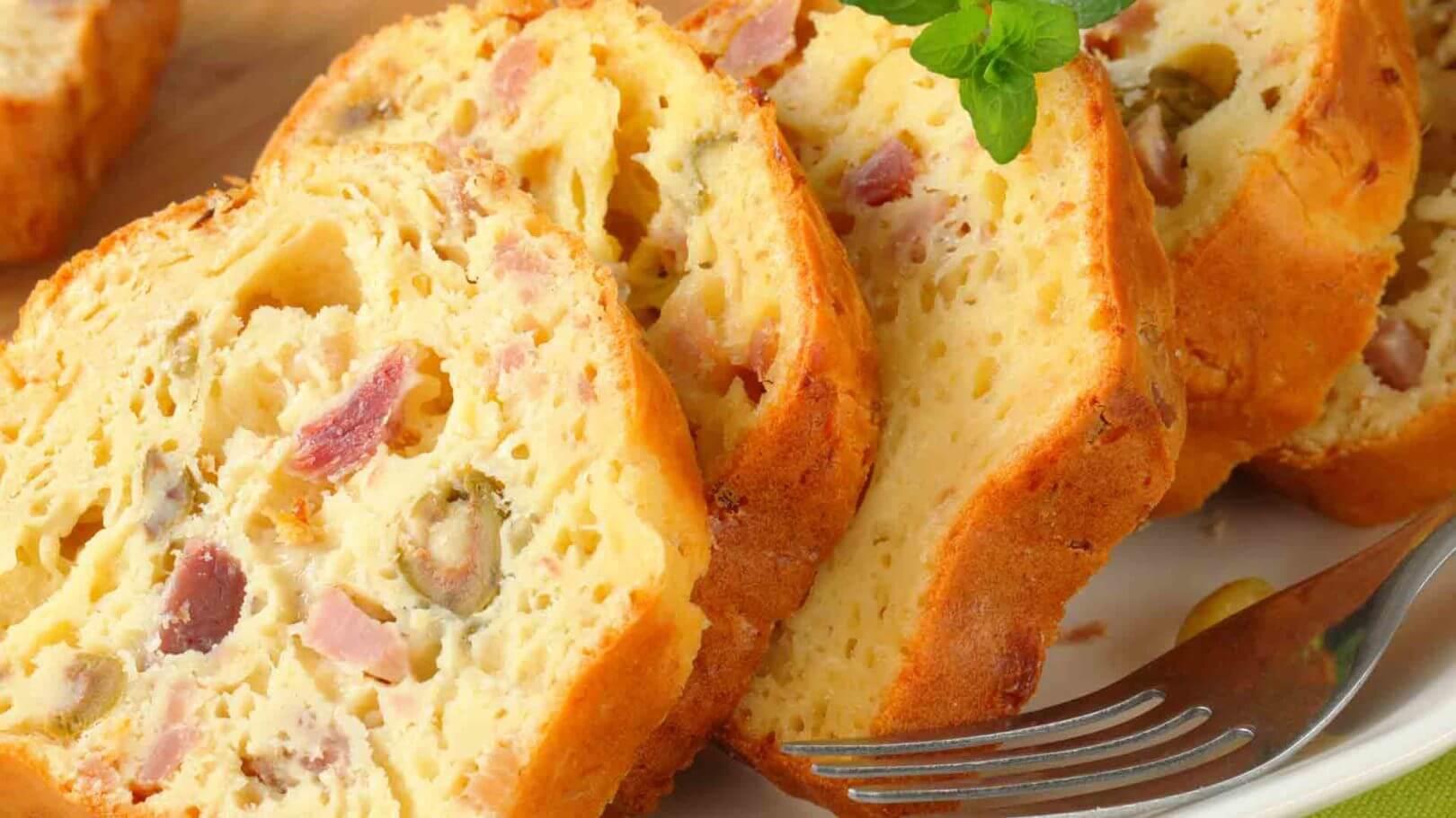 Cake jambon & champignons
