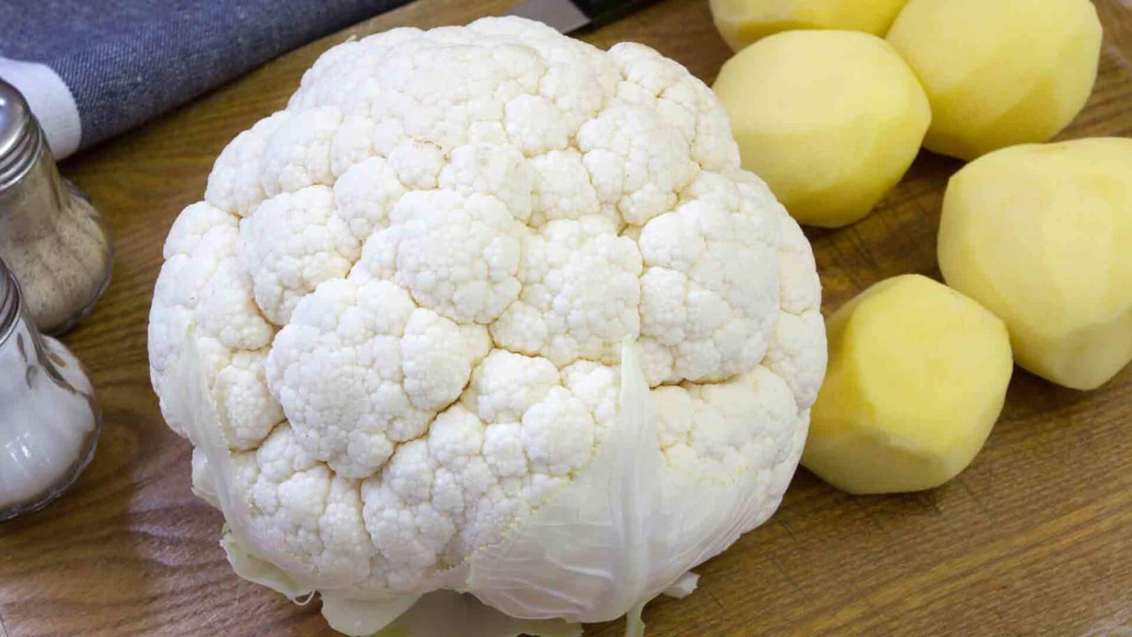 Gâteau de chou-fleur et pommes de terre