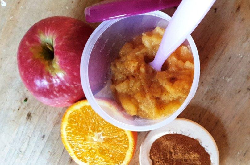 Compote de pomme, orange et cannelle