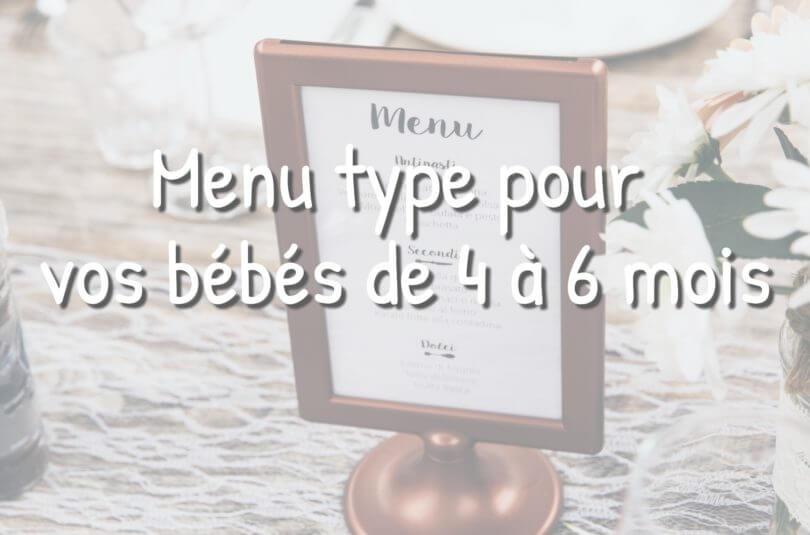 Idées de menu pour les bébés de 4 à 6 mois