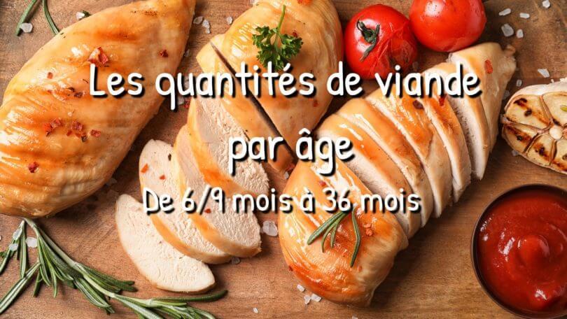 Les quantités de viande par âge : guide