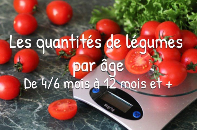 Guide : Les quantités de légumes par âge