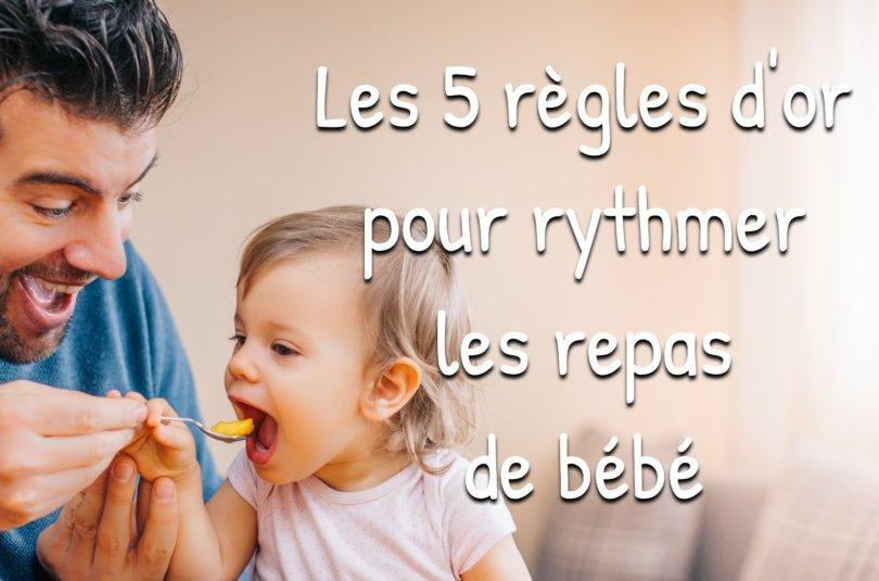 Guide : Comment rythmer les repas de bébé ?