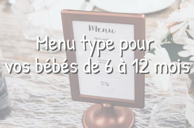 Idées de menu pour les bébés de 6 à 12 mois