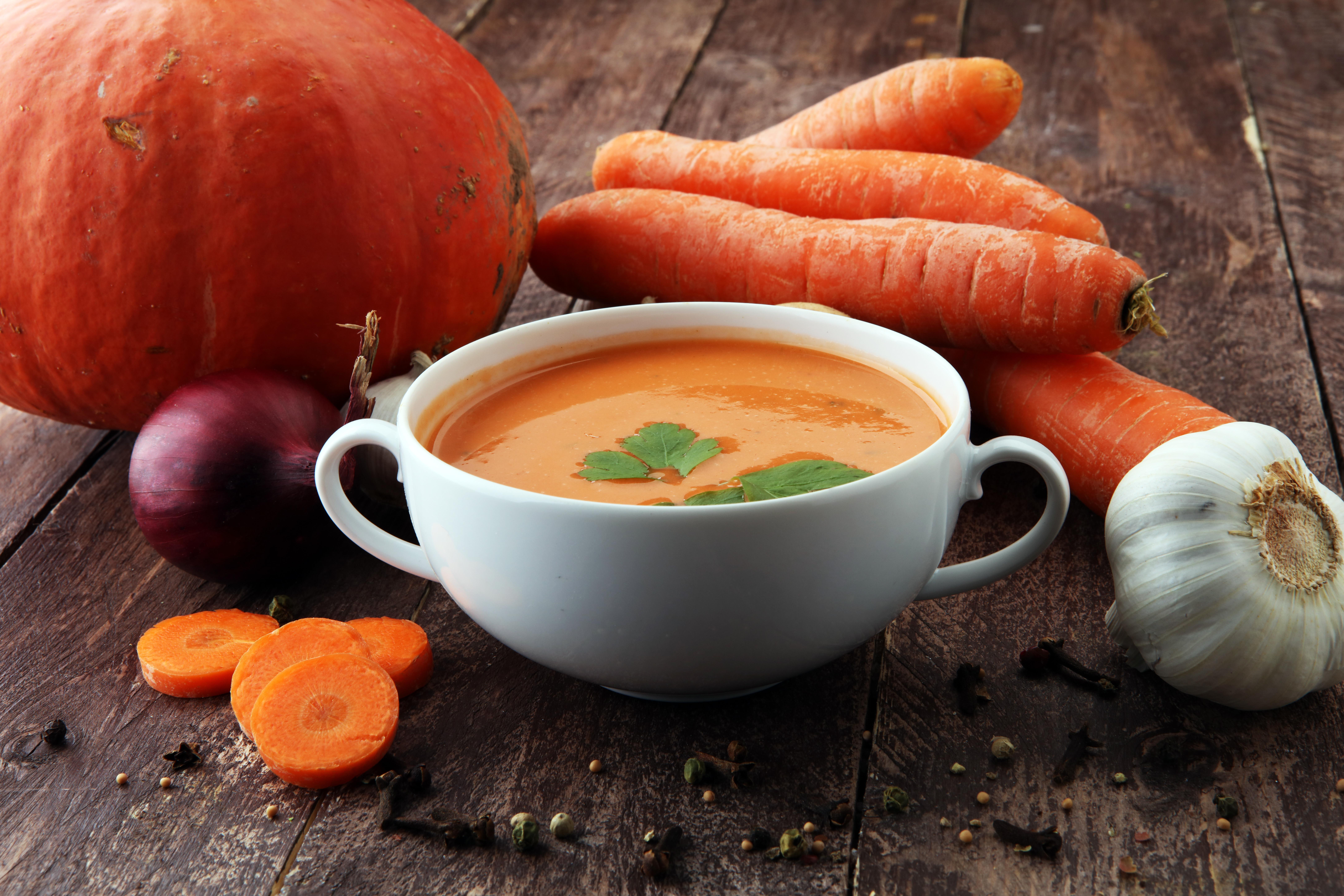 Soupe carotte et potiron
