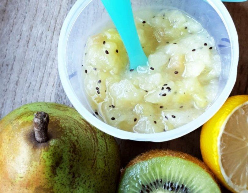 Compote de poire kiwi et citron